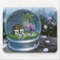 Cherry Blossom Globe Mousepad