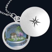 Cherry Blossom Globe Necklace