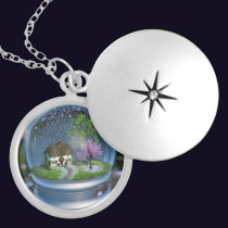 Cherry Blossom Globe Necklace