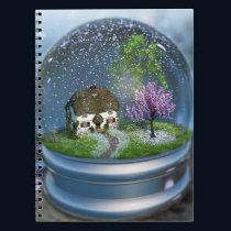 Cherry Blossom Globe Notebook