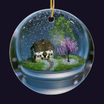 Cherry Blossom Globe Ornament