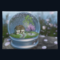 Cherry Blossom Globe Placemat