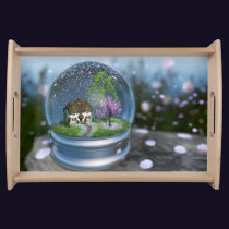 Cherry Blossom Globe Serving Tray
