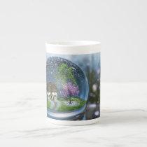 Cherry Blossom Globe Specialty Mug
