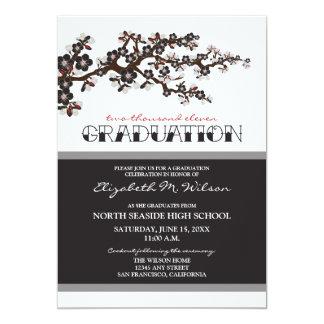 Cherry Blossom Graduation Announcement (black)