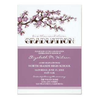 Cherry Blossom Graduation Announcement (purple)