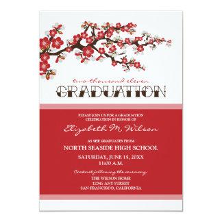 Cherry Blossom Graduation Announcement (red)