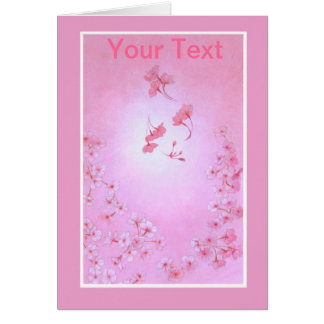Cherry Blossom Greeting Car Card