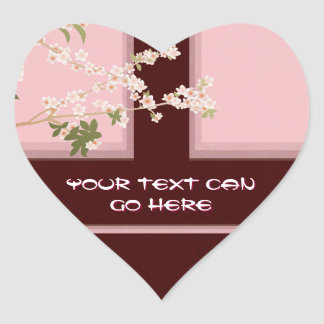 Cherry Blossom Heart Stickers