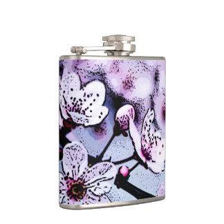 Cherry blossom hip flasks