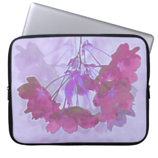 cherry blossom in purple tones computer sleeves
