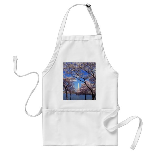 Cherry blossom in Washington DC Adult Apron