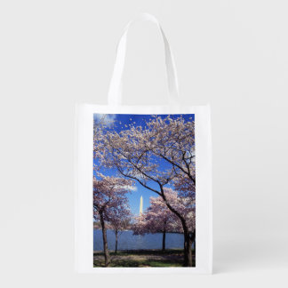 Cherry blossom in Washington DC Photo Reusable Grocery Bag