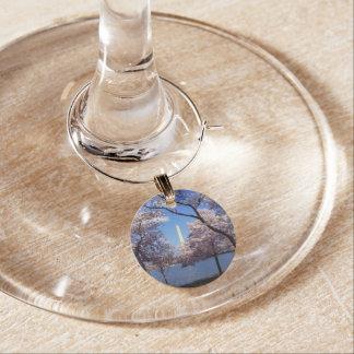 Cherry blossom in Washington DC Photo Wine Glass Charm