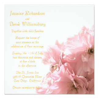 Cherry Blossom Invitations