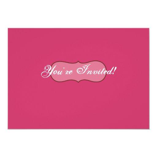 """Cherry Blossom Invite 5"""" X 7"""" Invitation Card"""