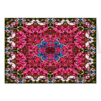 Cherry Blossom Kaleidoscope Greeting Card