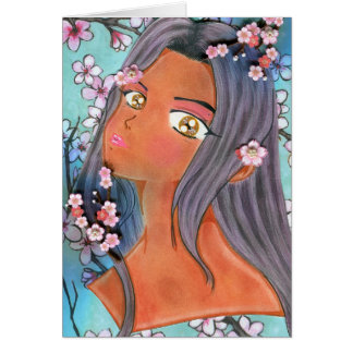 Cherry Blossom Klip Greeting Card