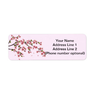 cherry blossom return address label
