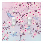 Cherry Blossom Landscape Light Switch Cover