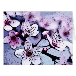 Cherry blossom large greeting card