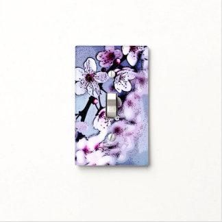 Cherry blossom light switch plates