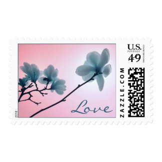 Cherry Blossom Love postage stamps