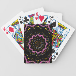 Cherry Blossom, Mandala Art Bicycle Playing Cards