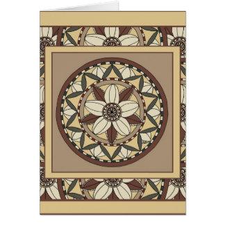 Cherry Blossom Mandala-greeting card
