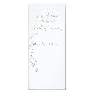 Cherry Blossom Marriage Ceremony Program Cards