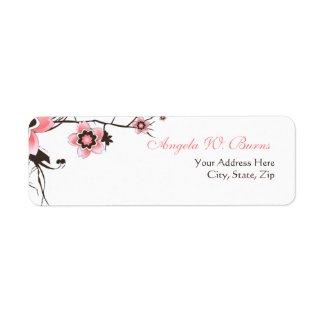 Cherry Blossom Modern Custom Address Labels label