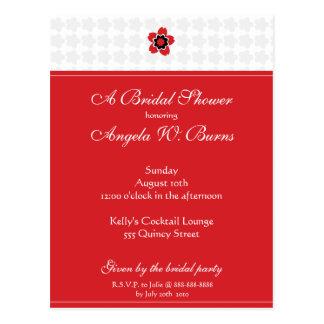 Cherry Blossom Modern Custom Bridal Shower Postcards