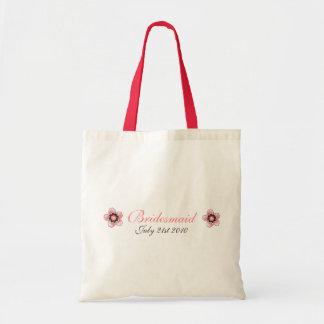 Cherry Blossom Modern Custom bridesmaids Favor Bags
