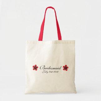 Cherry Blossom Modern Custom bridesmaids Favor Tote Bag