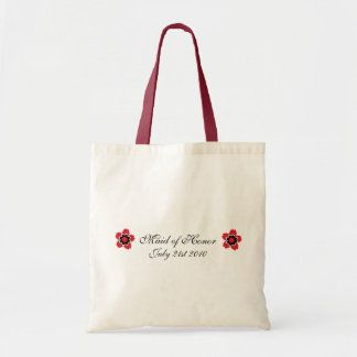 Cherry Blossom Modern Custom MOH Favor Tote Bag