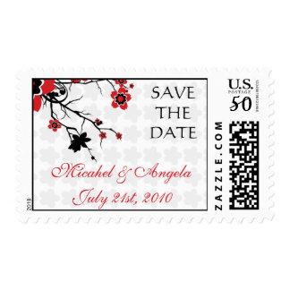 Cherry Blossom Modern Custom Save the Date Postage