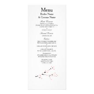 Cherry Blossom Modern Simple Elegant WeddingIdeas Rack Card