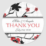 Cherry Blossom Modern Thank You Stickers
