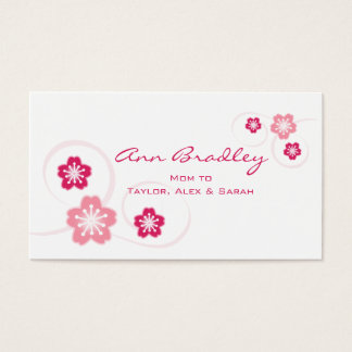 Cherry Blossom Mom Calling Card