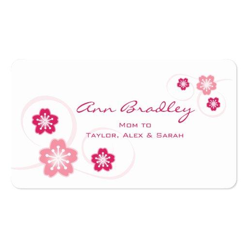 Cherry Blossom Mom Calling Card Business Card