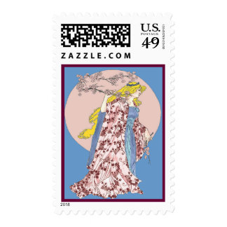 Cherry Blossom Moon Postage Stamps