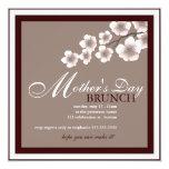 """Cherry Blossom Mother's Day Brunch Invitation 5.25"""" Square Invitation Card"""