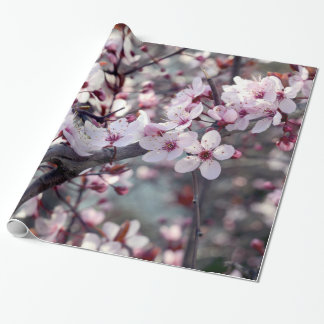 Cherry Blossom Nature Floral Wrapping Paper