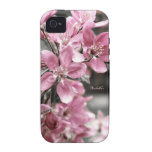 Cherry Blossom on Black and White Background Case-Mate iPhone 4 Case
