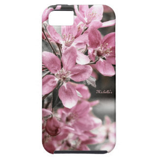 Cherry Blossom on Black and White Background iPhone SE/5/5s Case