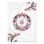 Cherry Blossom Oriental Wedding 5x7 Paper Invitation Card
