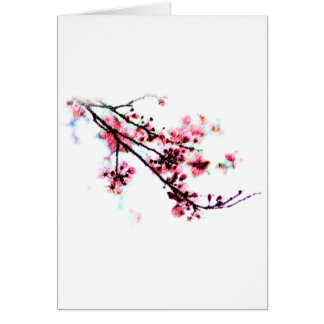 Cherry Blossom Painting Greeting Card