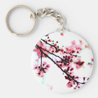 Cherry Blossom Painting Keychains