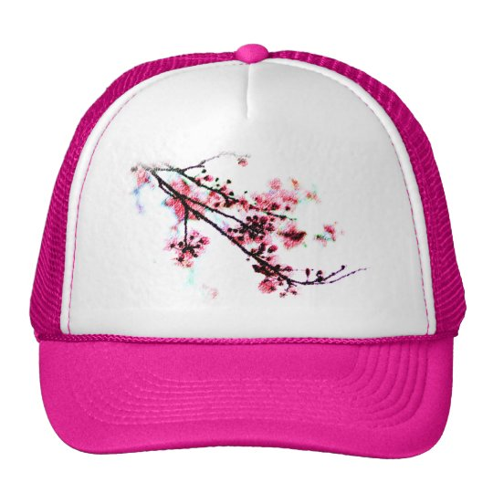 Cherry Blossom Painting Trucker Hat