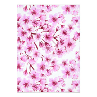 Cherry blossom pattern card